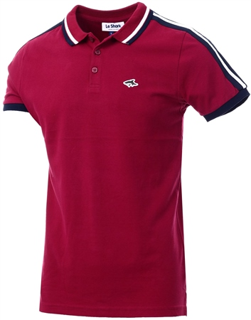 Le Shark Beet Red Side Panel Short Sleeve Polo Shirt  - Click to view a larger image