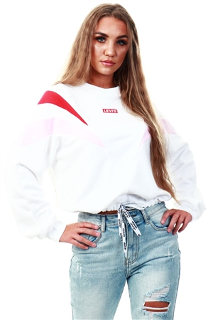 Levi's White - White Florence Crew  - Click to view a larger image
