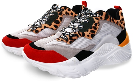 Steve Madden Leopard Antonia Chunky Trainer  - Click to view a larger image