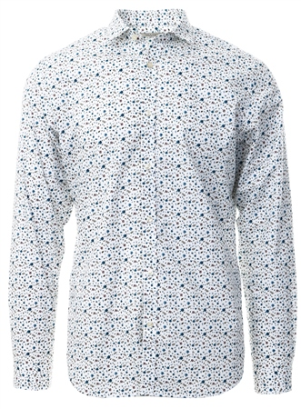 Jack & Jones White Dotted Poplin Shirt  - Click to view a larger image