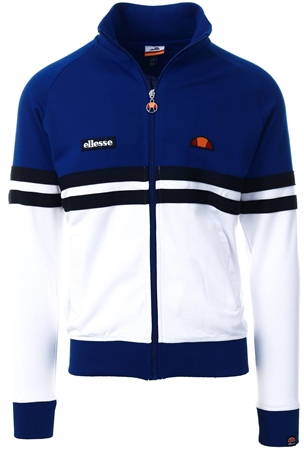 Ellesse White Rimini Track Top  - Click to view a larger image