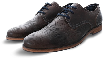 Bull Boxer Brown Textured Lace Up Shoe  - Click to view a larger image
