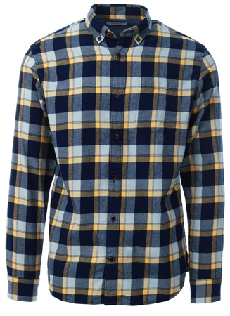 Jack & Jones Brown / Fall Leaf Checked Shirt  - Click to view a larger image
