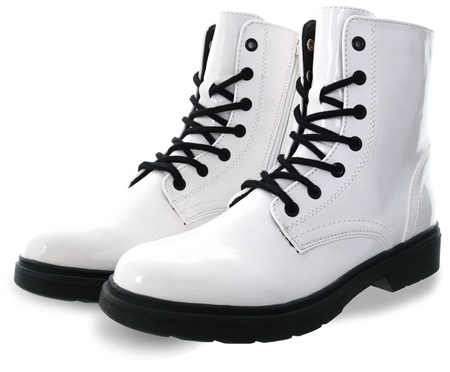 Dv8 White Lace Up Boots  - Click to view a larger image
