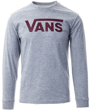 Vans Grey Athletic Classic Long Sleeve T-Shirt  - Click to view a larger image
