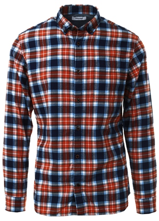 Jack & Jones Umber Checked Shirt  - Click to view a larger image