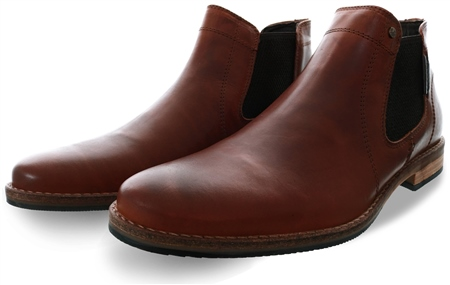 Bull Boxer Tan Chelsea Slip On Boot  - Click to view a larger image
