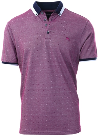 Bewley & Ritch Purple Jacquard Polo Shirt - Donna  - Click to view a larger image