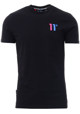 11degrees Black Solar Back Graphic T-Shirt  - Click to view a larger image