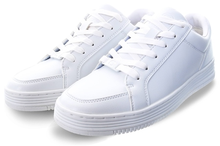 Certified White Lace Up Trainer  - Click to view a larger image