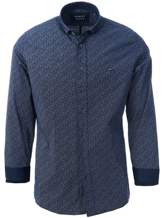 Bewley & Ritch Black Steven Long Sleeve Shirt  - Click to view a larger image