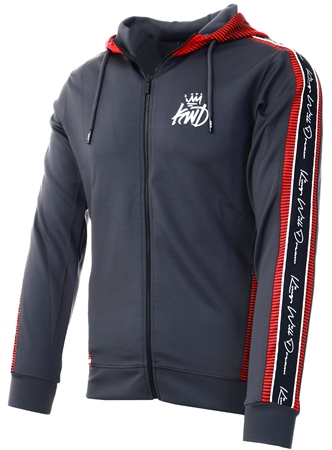Kings Will Dream Charcoal Manse Hooded Top  - Click to view a larger image