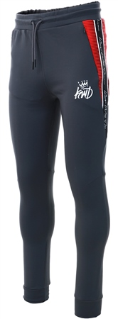 Kings Will Dream Charcoal/Red Manse Poly Jog Pant  - Click to view a larger image