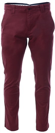 Tommy Jeans Burgundy Stretch Organic Cotton Chinos  - Click to view a larger image
