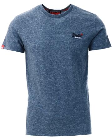 Superdry Creek Blue Grit Orange Label Vintage Embroidery T-Shirt  - Click to view a larger image