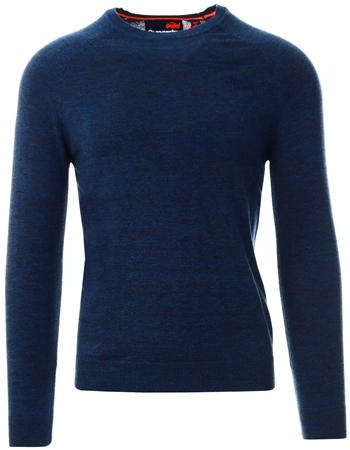 Superdry Blue Orange Label Cotton Crew Jumper  - Click to view a larger image
