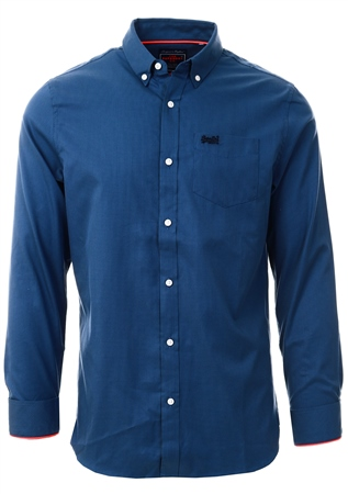 Superdry Blue Gingham London Button Down Shirt  - Click to view a larger image