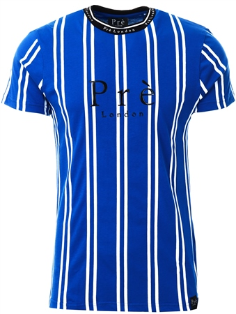 Pre London Blue/White Stripe T-Shirt  - Click to view a larger image