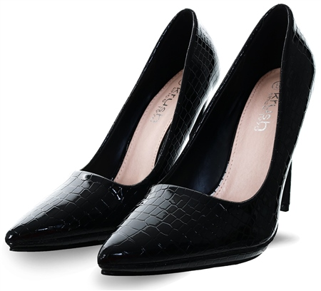 Krush Black Croc Textured Shoe  - Click to view a larger image