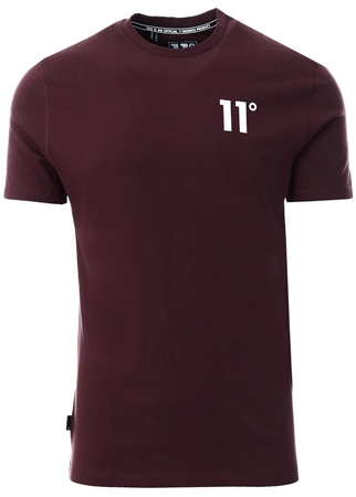 11degrees Mulled Red Core T-Shirt  - Click to view a larger image