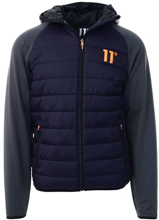11degrees Navy/Charcoal Neoprene Hybrid Jacket  - Click to view a larger image