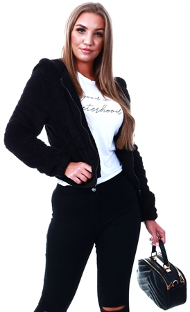 Only Black Sherpa Jacket  - Click to view a larger image