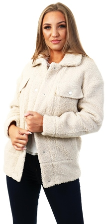 Only Cream Sherpa Coat  - Click to view a larger image