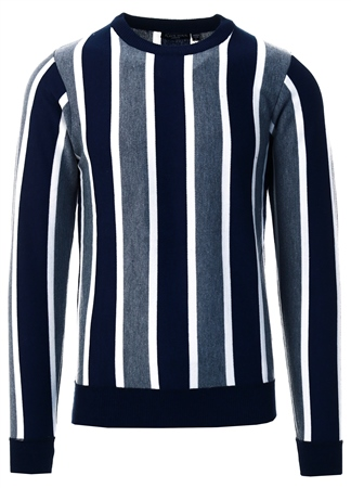 Brave Soul Navy Stripe Knit Sweater  - Click to view a larger image