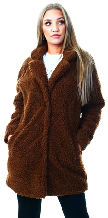 Only Brown / Potting Soil Sherpa Coat  - Click to view a larger image