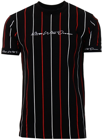 Kings Will Dream Black / White / Red Lifton T-Shirt  - Click to view a larger image