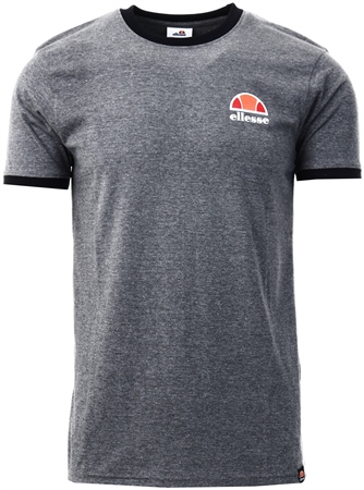 Ellesse Dark Grey Marl Ringer T-Shirt  - Click to view a larger image