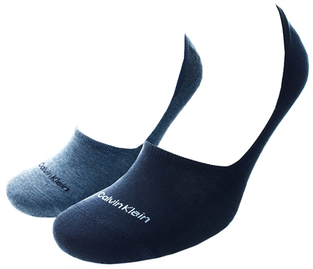 Calvin Klein Blue 2 Pack Liner Socks  - Click to view a larger image