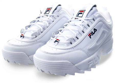 Fila White (Mens) Disruptor 2 Trainers  - Click to view a larger image