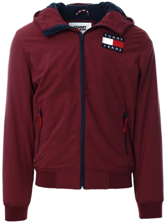 Tommy Jeans Burgundy Padded Zip-Thru Jacket  - Click to view a larger image