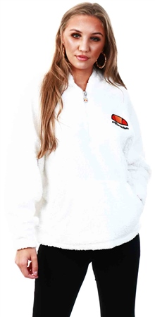 Ellesse White Seppy Half Zip Hoody  - Click to view a larger image
