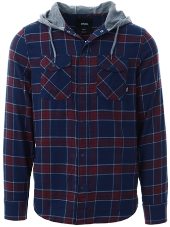 Vans Dress Blues Parkway Hooded Shirt  - Click to view a larger image