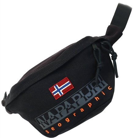 Napapijri Black Waist Bag Hering  - Click to view a larger image