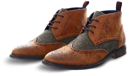 Cavani Tan Curtis Lace Up Boot  - Click to view a larger image