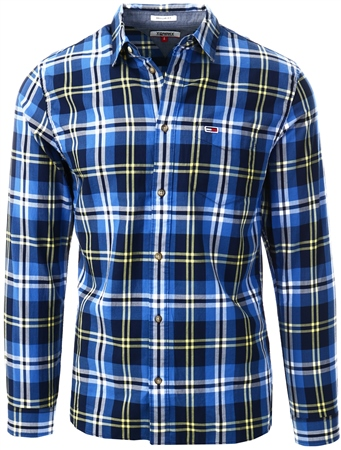 Tommy Jeans Aspen Gold Organic Cotton Check Shirt  - Click to view a larger image