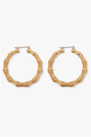 Re Born Mty Bamboo Hoop Earring  - Click to view a larger image