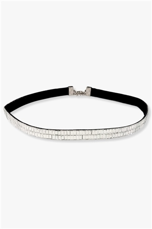 Re Born Mty Rs Baguette Stone Choker  - Click to view a larger image