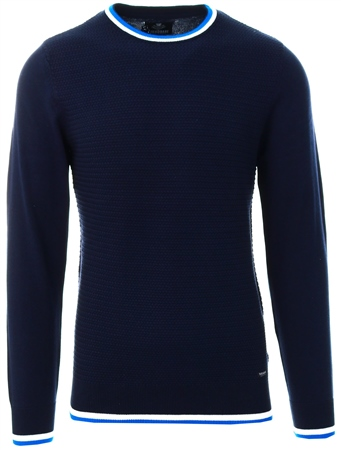 Threadbare Navy Round Neck Knit  - Click to view a larger image