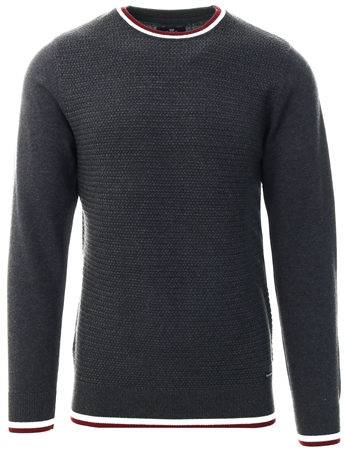 Threadbare Charcoal Calan Round Neck Knit  - Click to view a larger image