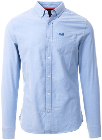 Superdry Classic Blue Chambray Classic University Shirt  - Click to view a larger image