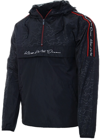 Kings Will Dream Black Canse Quarter Zip Windbreaker  - Click to view a larger image