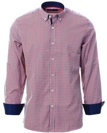 Ottomoda Red Gingham Button Down Shirt  - Click to view a larger image