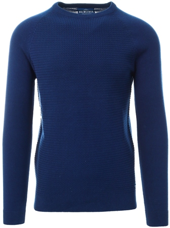 Holmes & Co Blue Depths Textured Long Sleeve Sweater  - Click to view a larger image