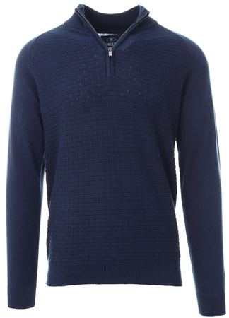 Holmes & Co Blue Depths Halton 1/4 Zip Sweater  - Click to view a larger image