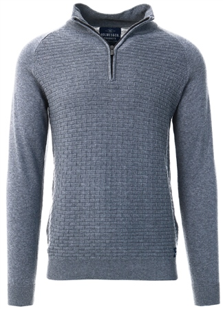 Holmes & Co Tornado Marl Halton 1/4 Zip Up Sweater  - Click to view a larger image