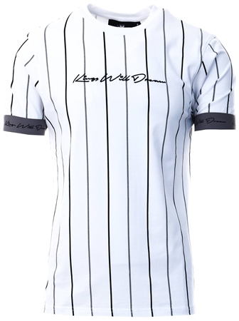 Kings Will Dream White Lifton Stripe T-Shirt  - Click to view a larger image